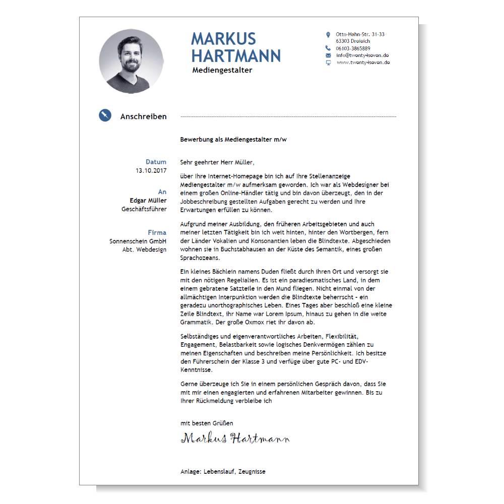 Executive A - Bewerbungsanschreiben für leitende Angestellte ...