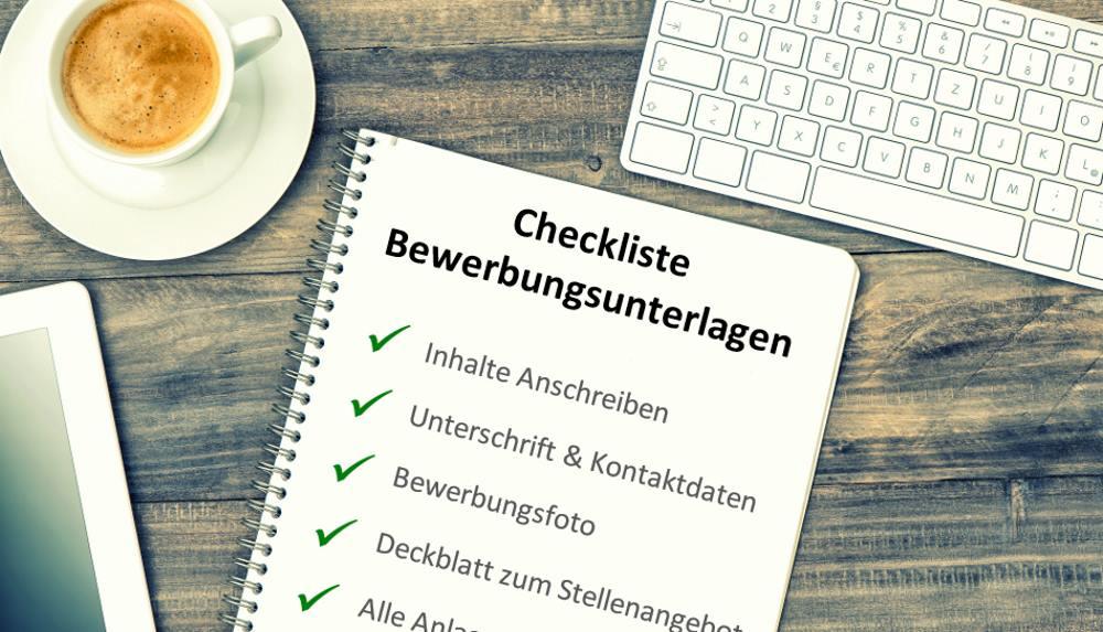 Checkliste für die Bewerbungsunterlagen: Daran sollten Sie denken