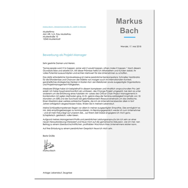 Bewerbungsvorlage Frankfurt Classic - Das Online Bewerbungsportal
