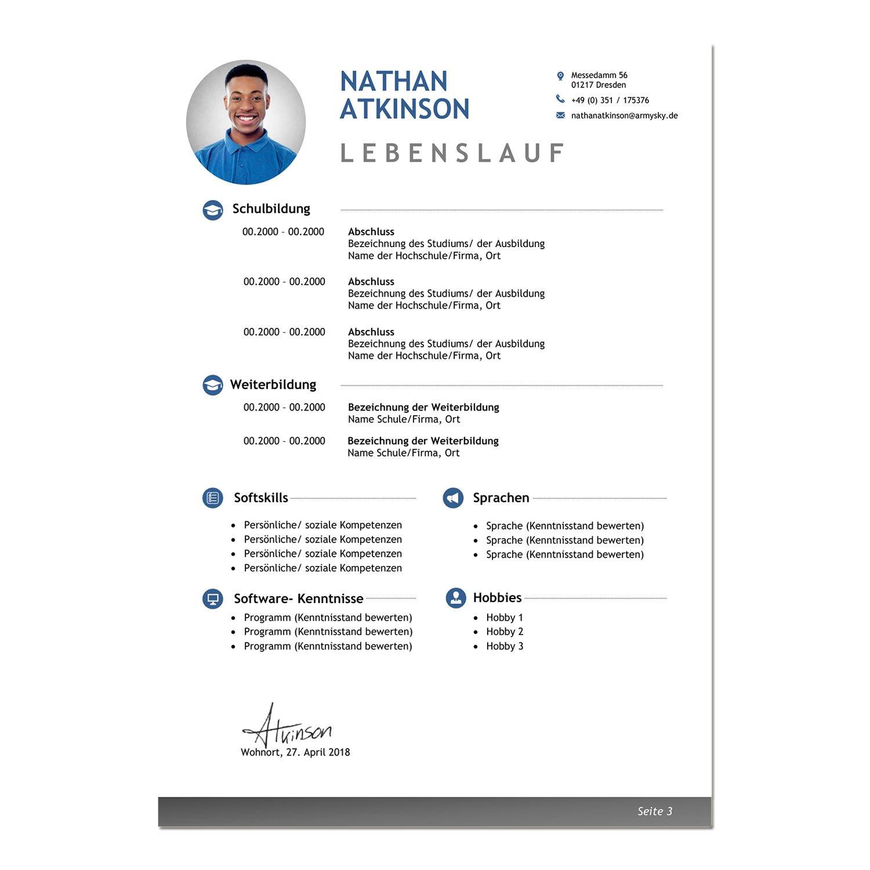 Bewerbungsvorlage Dusseldorf Classic Das Online Bewerbungsportal